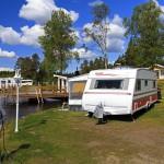 Vacker camping i Lappland