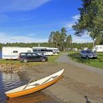 Camping längst E45:an i Vilhelmina, Norrland